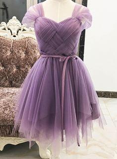 Irregular A-line Mesh Cocktail Bridesmaid Dress