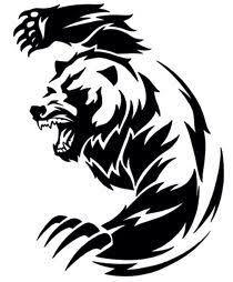 Bear Stencil/tattoo