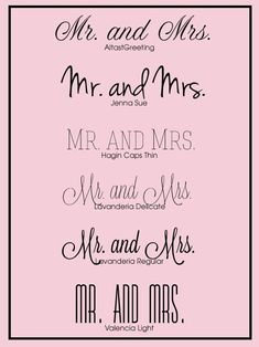 Free Wedding Fonts wedding-ideas definitely the second one.. completely our style