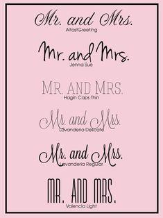 Free Wedding Fonts for your  #DIY   #wedding   #invitations .