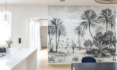 Salle à manger papier-peint jungle Appartement Jessica et Hugo Mulliez Paris