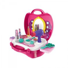 Let little girls have hours of fun and role play with this stunning beauty suitcase set!