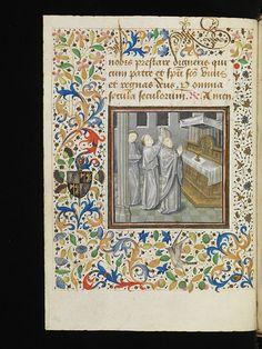 Porrentruy, Bibliothèque cantonale jurassienne, Ms. 10, f. 27v – Pontifical of Charles de Neufchâtel, Archbishop of Besançon