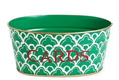 Cards Tub, Scalloped Arches Green on OneKingsLane.com