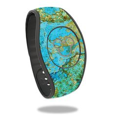 Teal and Gold Marble Design Fits Both Adult /& Child Bands Marble MagicBand Decal MagicBand 2.0 Skin Navy RTS Ready To Ship