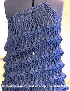 """knitted macrame"""