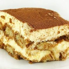 The Best Tiramisu you will ever have! (I use Kahlua as my coffee liqueur, i love a little rum in my tiramisu. I also add in vanilla, and a little bit of sugar into the whipped cream. I let the tiramisu set overnight, to really bring the favors Just Desserts, Delicious Desserts, Yummy Food, Italian Desserts, Sweet Recipes, Cake Recipes, Dessert Recipes, Bolo Tiramisu, Tiramisu Dessert