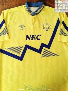 Relive Everton's 1990/1991 season with this original Umbro away football shirt.