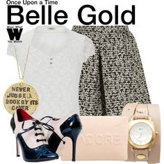 Inspired by Emilie de Ravin as Belle Gold on Once Upon a Time.