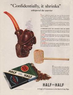 Tobacco pipes, smoking pipes and unique smoking accessories are our specialty. View our wide range of affordable pipes, lighters, cleaning tools and cases! Vintage Ads, Vintage Posters, Smoke Signals, Smoking Accessories, Advertising, Tobacco Pipes, Smoking Pipes, Nostalgia, Moon