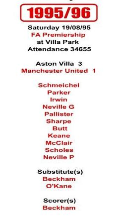 Manchester United vs Aston Villa - you can't win anything with kids. Manchester United Images, Manchester United Football, Aston Villa Fc, Villa Park, Best Club, West Midlands, Man United, Numbers, The Unit