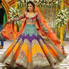 25 Trendy Lehenga designs for Navratri & Garba 2019 - Buy lehenga choli online Indian Bridal Outfits, Indian Bridal Lehenga, Indian Bridal Wear, Pakistani Bridal Dresses, Indian Designer Outfits, Wedding Lehnga, Wedding Hijab, Wedding Wear, Wedding Suits