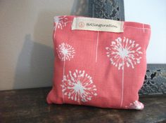 Coral Dandelion Satchet with Lavender by HASinspiration on Etsy, $3.50
