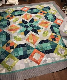 Patchwork Gypsy pattern by Judi Madsen at GreenFairyQuilts Star Quilts, Scrappy Quilts, Quilt Blocks, Star Blocks, Patchwork Quilting, Mini Quilts, Quilting Tips, Quilting Projects, Quilting Designs