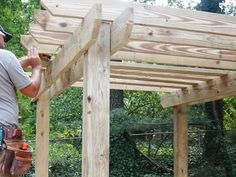 How to Build a Pergola : How-To : DIY Network - Outdoor Ideas!