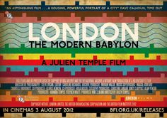 London - The Modern Babylon - this is kind of a pop-culture history of London from about 1900 to present day. Worth watching the whole thing if you're a history junkie like me, otherwise, the 60s start about an hour in, and the music is out of this world. Julian Temple started out directing Sex Pistols videos and you have definitely seen his stuff, even if you don't know it, he worked with everyone.