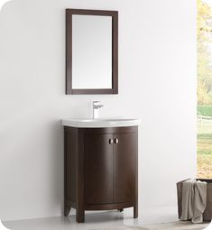 "Fresca FVN2301AC-CMB Greenwich 25"" Antique Coffee Traditional Bathroom Vanity"
