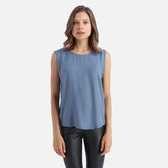 4845b32aaf1 Y.A.S - Janisan Tee Blue China, Hemline, Shirt Blouses, Cami, Tunic Tops.  Superbalist