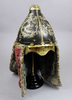 Officer's helmet from Korea, Asia. Given to the Museum in This is a very ornate officer's helmet from Seoul in South Korea. It probably dates to the early century and would have belonged to a wealthy man. by sandy Helmet Armor, Arm Armor, Body Armor, Chinese Armor, Ancient Armor, Costume Armour, Knight Armor, Fantasy Armor, Korean Traditional