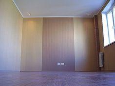 Технология оклейки стен комбинированными обоями: видео, фото