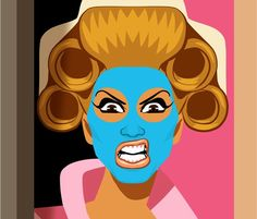 chad sell,U.S.comic artist.his illustrations  of all casts from rupaul's drag race are sickening to the bit!imma really love to see as its updated on his site! #chad sell #comic