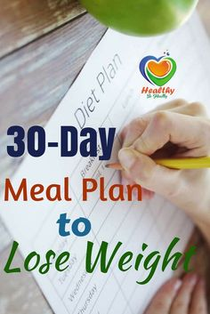 Healthy Eating to Lose Weight Diet Plan