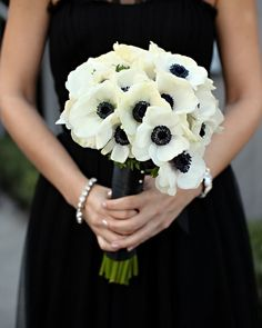 "glamour: "" Dramatic, modern, and so chic. (via Wedding Inspiration: Black and White Wedding Ideas: Save the Date: glamour.com) """