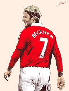 David Bekham Legenda nomor 7 united era modern. Ikon pop dunia, pengumpan silang handal, salah satu punggawa Setan merah meraih treble winners musim 1998/1999. Stats bersama MU ( main 394/ gol 85).