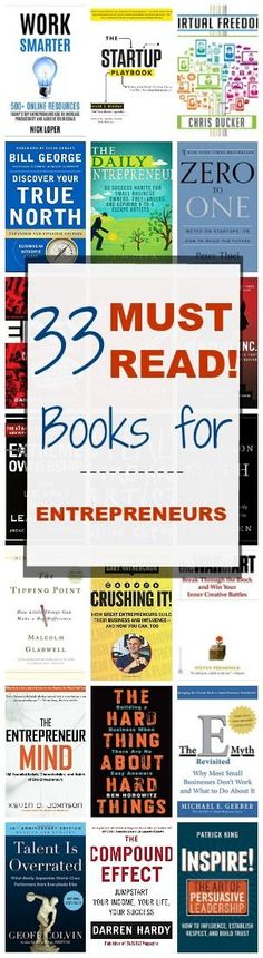 "Best Entrepreneur Books for 2019 ""Must Read"" Entrepreneurship Books) Find out where your favorite entrepreneurial book made it on this list of best books for entrepreneurs. Entrepreneur Books, Inspiration Entrepreneur, Good Books, Books To Read, Ya Books, Leadership, Best Entrepreneurs, Personal Development Books, Finance Books"