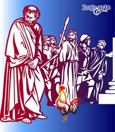 """Cuarta estación del Viacrucis: """"En verdad te digo que esta misma noche, antes que el gallo cante, me negarás tres veces"""" Esta frase tan conocida de Cristo a Pedro en la última cena, es la base de esta imagen que representa la cuarta estación del Viacrucis."""