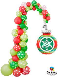 Christmas Ornament Balloon Column