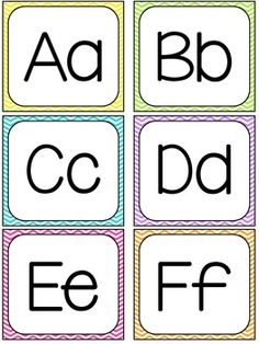 Chevron Word Wall Letters 2