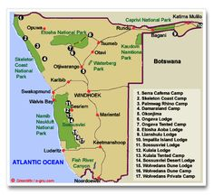 cape town to namibia road map - Google Search Cape Town, Road Trip, Map, Google Search, Location Map, Maps
