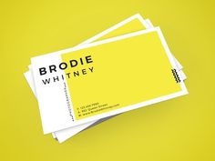 Brodie Whitney Business Card by D | S Creative Design on /creativemarket/
