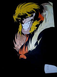 Sabretooth from X-Men by ~skketchy