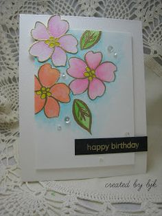 created by bjk: BOHEMIAN GARDEN  A last minute card for CAS(E) Thi...