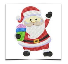 Free Embroidery Design: Santa Claus