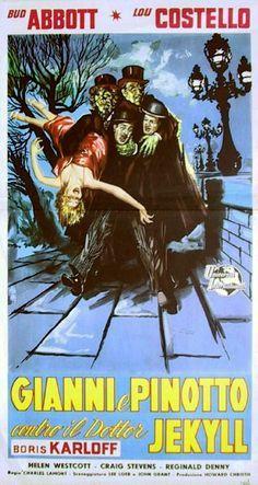 Gianni e Pinotto contro il dottor Jekyll (Abbott and Costello Meet Dr. Jekyll and Mr. Hyde) è un film diretto da Charles Lamont https://it.wikipedia.org/wiki/Gianni_e_Pinotto_contro_il_dottor_Jekyll (fr=Deux nigauds contre le Dr Jekyll et Mr Hyde)