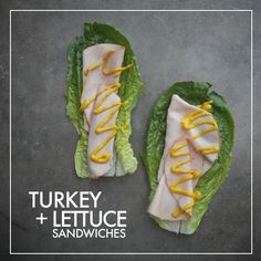 Turkey Lettuce Sandwiches - For those times when you really miss sandwiches…Use a lettuce wrap! I actually really enjoyed eating turkey on lettuce with mustard and dill sauerkraut. Sounds weird but it was goooood. Whole 30 Snacks, Whole 30 Lunch, Whole 30 Diet, Paleo Whole 30, Whole 30 Recipes, Lettuce Sandwich, Lettuce Wraps, Wrap Sandwiches, Italian Sandwiches
