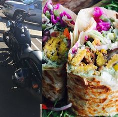 Putting in some riding time before I run some errands. Hit up Eve Encinitas. They recently started serving breakfast all day. They make amazing organic vegan food. Extremely unique and exotic combinations. Never in my life have I eaten a burrito that does NOT require hot sauce.