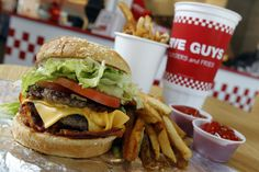 Five Guys Burger and Fries  If you say you don't like them, YOU LIE!!!!