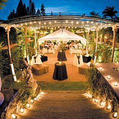 Destination Weddings  Maui --- eh not a fan of the destination part but love the lights and tent set up
