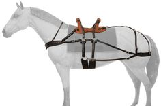 Classic Sawback Pack Saddle (Breastcollar & Breeching included) only at tinashorsetack.com!