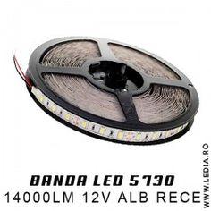 BANDA LED 5730 ALB RECE IP65 cee mai puternica banda led alb rece 14.000 lumeni !