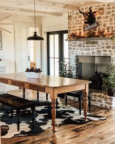 Rustic Farmhouse, Dining Table, Furniture, Home Decor, Decoration Home, Room Decor, Dinner Table, Home Furnishings, Dining Room Table