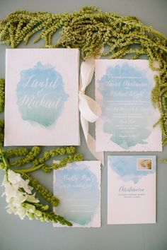 This Chicago wedding is sure to give you a little wedding planning inspiration! Take a look at all these gorgeous details from Katie Kett Photography Pastel Wedding Stationery, Letterpress Wedding Invitations, Watercolor Invitations, Wedding Invitation Design, Wedding Stationary, Reception Invitations, Wedding Envelopes, Invites, Mod Wedding