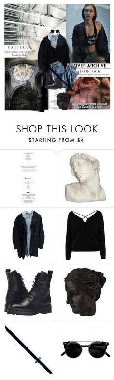 """""""""""Let your plans be dark and impenetrable as night, and when you move, fall like a thunderbolt."""""""" by obliviation ❤ liked on Polyvore featuring StyleNanda, John Galliano, House Parts, Dior Homme, River Island, J.Jill, Frye, Ren-Wil and Whetstone Cutlery"""