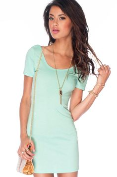 Mint green cute summer dress