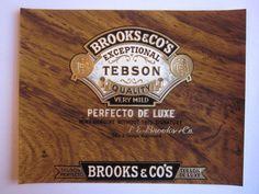 Vintage Original Cigar Label 1 Brooks & Co's Seal by antiquelove22, $2.00