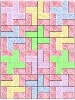 Beginner Baby Quilt Patterns | windmill newborn baby patchwork quilt pattern finished quilt size 18 5 ...